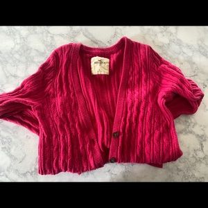 Hollistwr ribbed button  up sweater